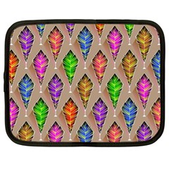 Abstract Background Colorful Leaves Netbook Case (xl)  by Nexatart