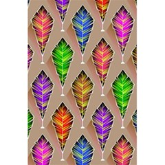Abstract Background Colorful Leaves 5 5  X 8 5  Notebooks