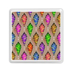 Abstract Background Colorful Leaves Memory Card Reader (square)  by Nexatart