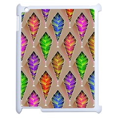 Abstract Background Colorful Leaves Apple Ipad 2 Case (white)