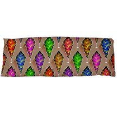 Abstract Background Colorful Leaves Body Pillow Case (dakimakura) by Nexatart