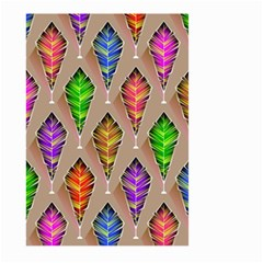 Abstract Background Colorful Leaves Large Garden Flag (two Sides)