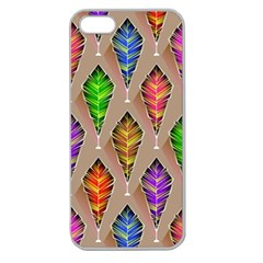 Abstract Background Colorful Leaves Apple Seamless Iphone 5 Case (clear)
