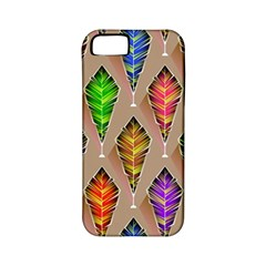 Abstract Background Colorful Leaves Apple Iphone 5 Classic Hardshell Case (pc+silicone)