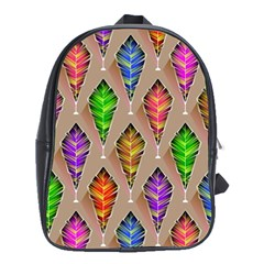 Abstract Background Colorful Leaves School Bag (xl) by Nexatart