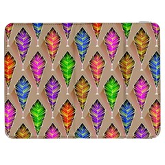 Abstract Background Colorful Leaves Samsung Galaxy Tab 7  P1000 Flip Case