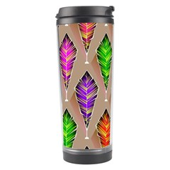Abstract Background Colorful Leaves Travel Tumbler