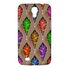 Abstract Background Colorful Leaves Samsung Galaxy Mega 6 3  I9200 Hardshell Case