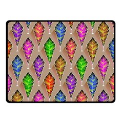 Abstract Background Colorful Leaves Double Sided Fleece Blanket (small)  by Nexatart