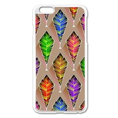 Abstract Background Colorful Leaves Apple Iphone 6 Plus/6s Plus Enamel White Case by Nexatart