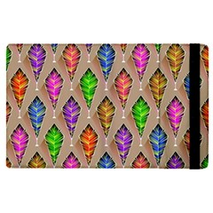 Abstract Background Colorful Leaves Apple Ipad Pro 9 7   Flip Case by Nexatart