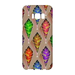 Abstract Background Colorful Leaves Samsung Galaxy S8 Hardshell Case