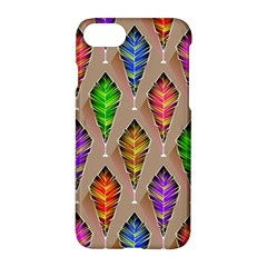 Abstract Background Colorful Leaves Apple Iphone 8 Hardshell Case