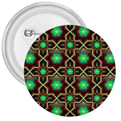 Pattern Background Bright Brown 3  Buttons
