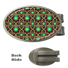 Pattern Background Bright Brown Money Clips (oval)