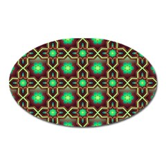 Pattern Background Bright Brown Oval Magnet