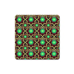 Pattern Background Bright Brown Square Magnet
