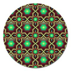 Pattern Background Bright Brown Magnet 5  (round)