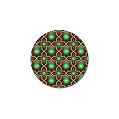 Pattern Background Bright Brown Golf Ball Marker