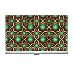 Pattern Background Bright Brown Business Card Holders