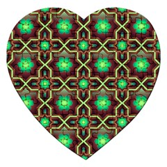 Pattern Background Bright Brown Jigsaw Puzzle (heart)