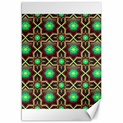 Pattern Background Bright Brown Canvas 24  X 36