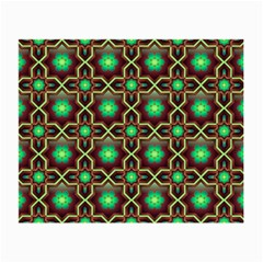 Pattern Background Bright Brown Small Glasses Cloth (2 Side)