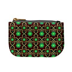 Pattern Background Bright Brown Mini Coin Purses