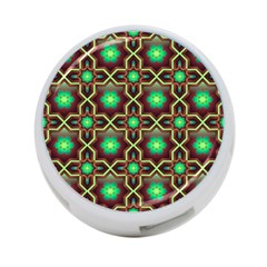 Pattern Background Bright Brown 4 Port Usb Hub (one Side)