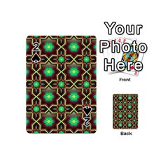 Pattern Background Bright Brown Playing Cards 54 (mini)