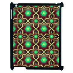 Pattern Background Bright Brown Apple Ipad 2 Case (black)