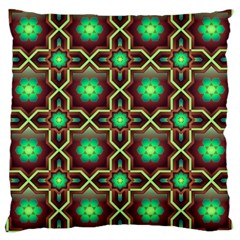 Pattern Background Bright Brown Large Cushion Case (two Sides)