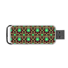 Pattern Background Bright Brown Portable Usb Flash (two Sides)