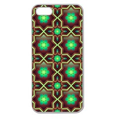 Pattern Background Bright Brown Apple Seamless Iphone 5 Case (clear)