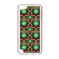 Pattern Background Bright Brown Apple Ipod Touch 5 Case (white)