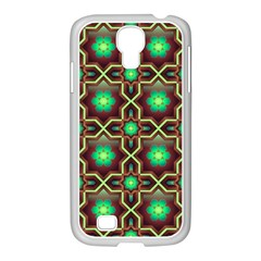 Pattern Background Bright Brown Samsung Galaxy S4 I9500/ I9505 Case (white) by Nexatart