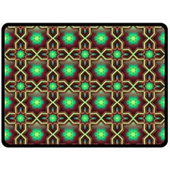 Pattern Background Bright Brown Double Sided Fleece Blanket (large)