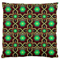 Pattern Background Bright Brown Large Flano Cushion Case (one Side) by Nexatart