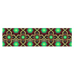 Pattern Background Bright Brown Satin Scarf (oblong)