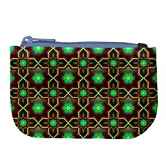 Pattern Background Bright Brown Large Coin Purse