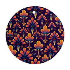 Abstract Background Floral Pattern Ornament (round)