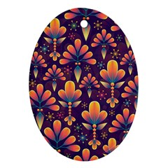 Abstract Background Floral Pattern Ornament (oval)
