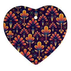 Abstract Background Floral Pattern Ornament (heart)
