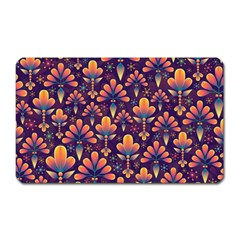 Abstract Background Floral Pattern Magnet (rectangular)