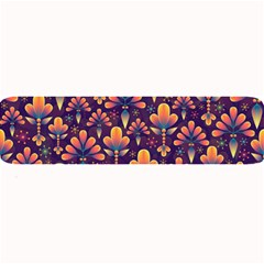 Abstract Background Floral Pattern Large Bar Mats