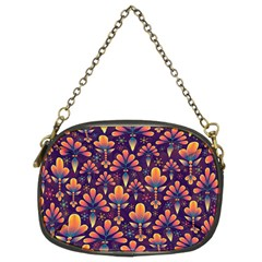 Abstract Background Floral Pattern Chain Purses (two Sides)