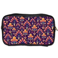 Abstract Background Floral Pattern Toiletries Bags 2 Side by Nexatart