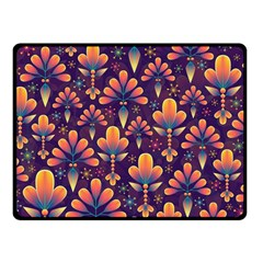 Abstract Background Floral Pattern Fleece Blanket (small)