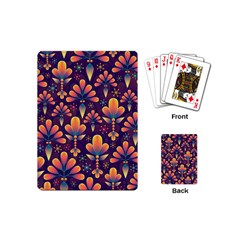 Abstract Background Floral Pattern Playing Cards (mini)