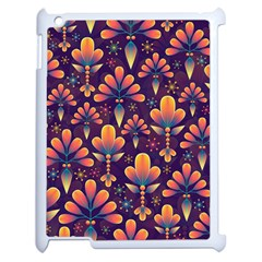 Abstract Background Floral Pattern Apple Ipad 2 Case (white)